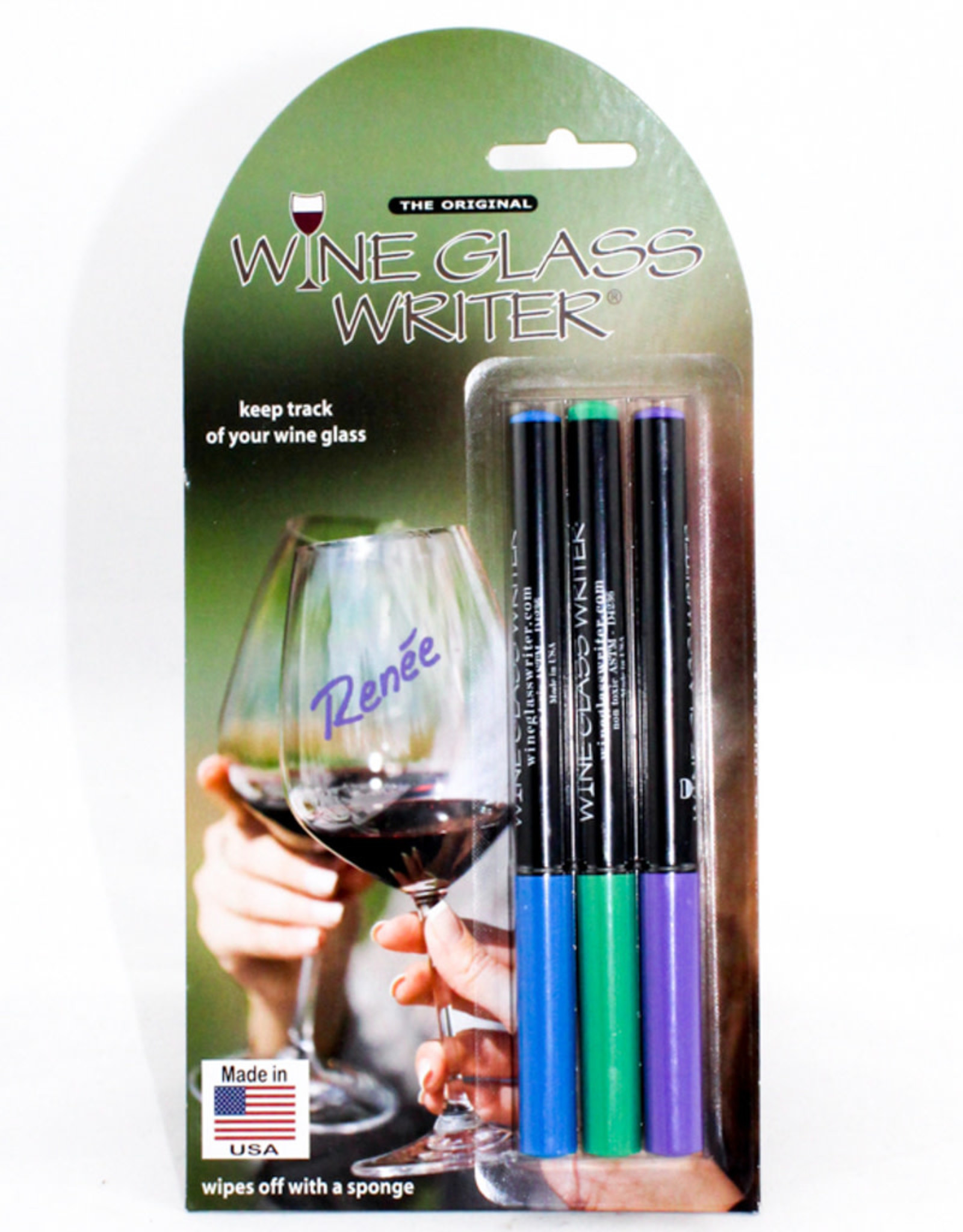 Wine Glass Writers USA Made 3 Pack