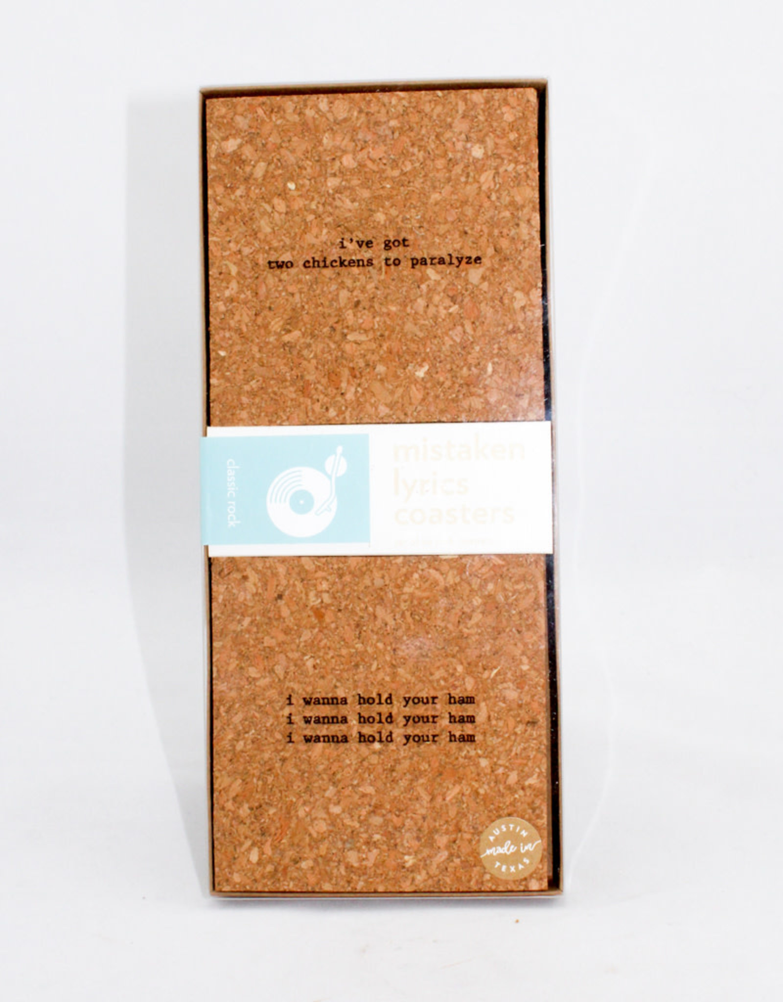 Bright Beam Goods Classic Rock Cork coaster Gift Set