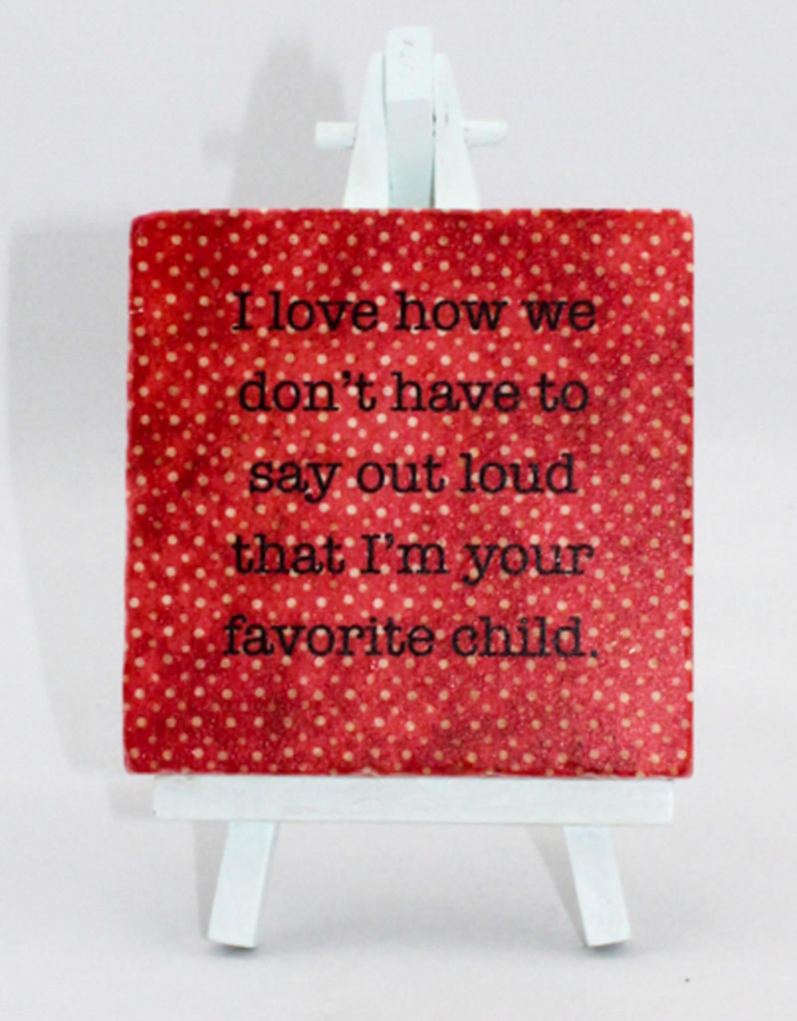 Paisley & Parsley Favorite Child Coaster