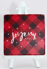 Paisley & Parsley Joyeux Noel Red Coaster