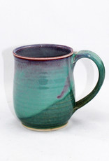 Jason Silverman Ceramics Short Mug-Green
