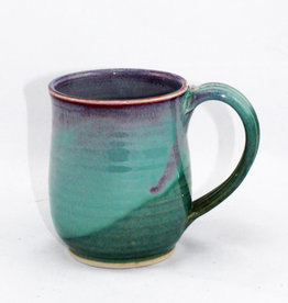 Jason Silverman Ceramics Short Mug Green