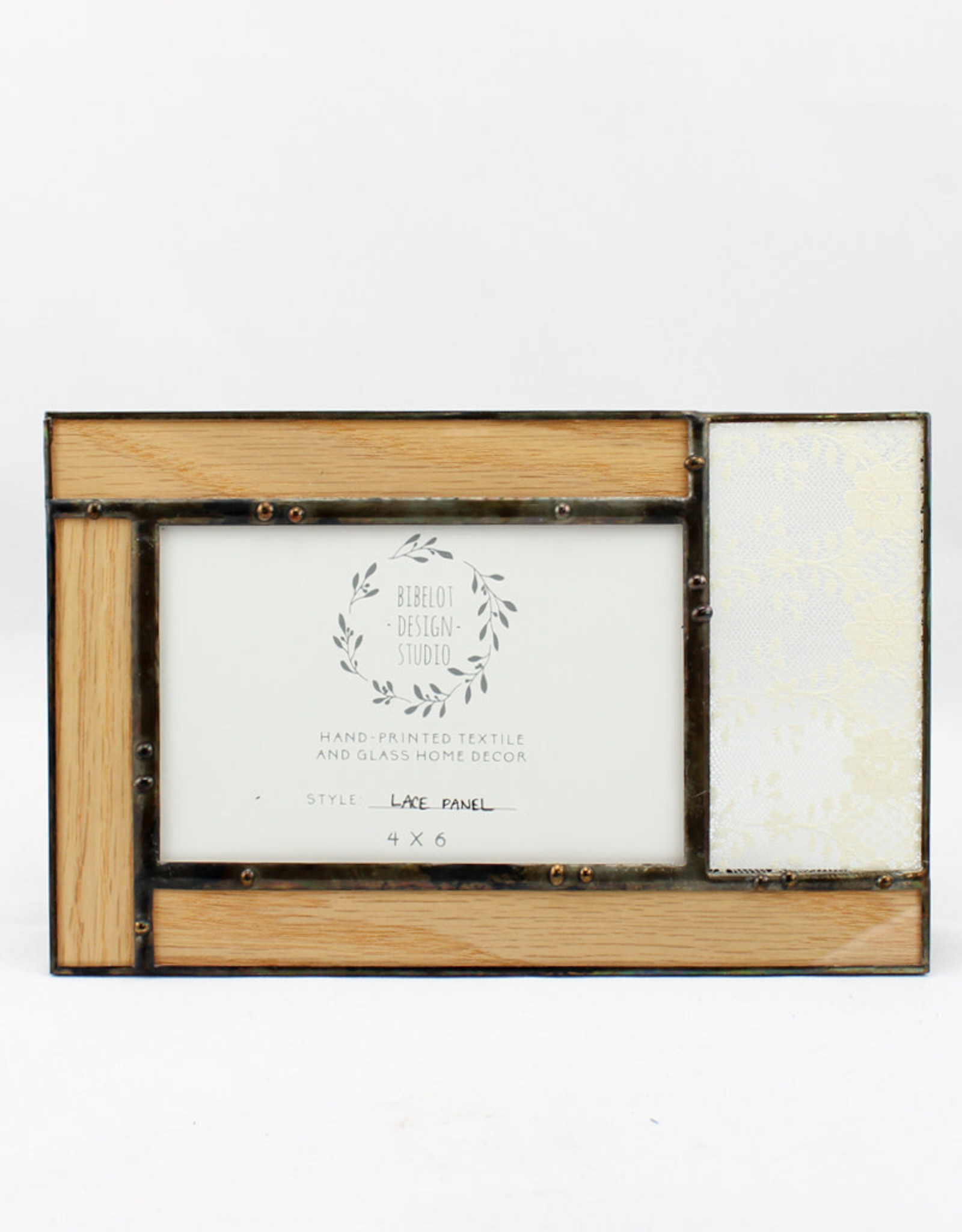 Bibleot Designs 4x6 Lace Panel Picture Frame