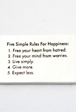 Danforth Pewter Five Rule