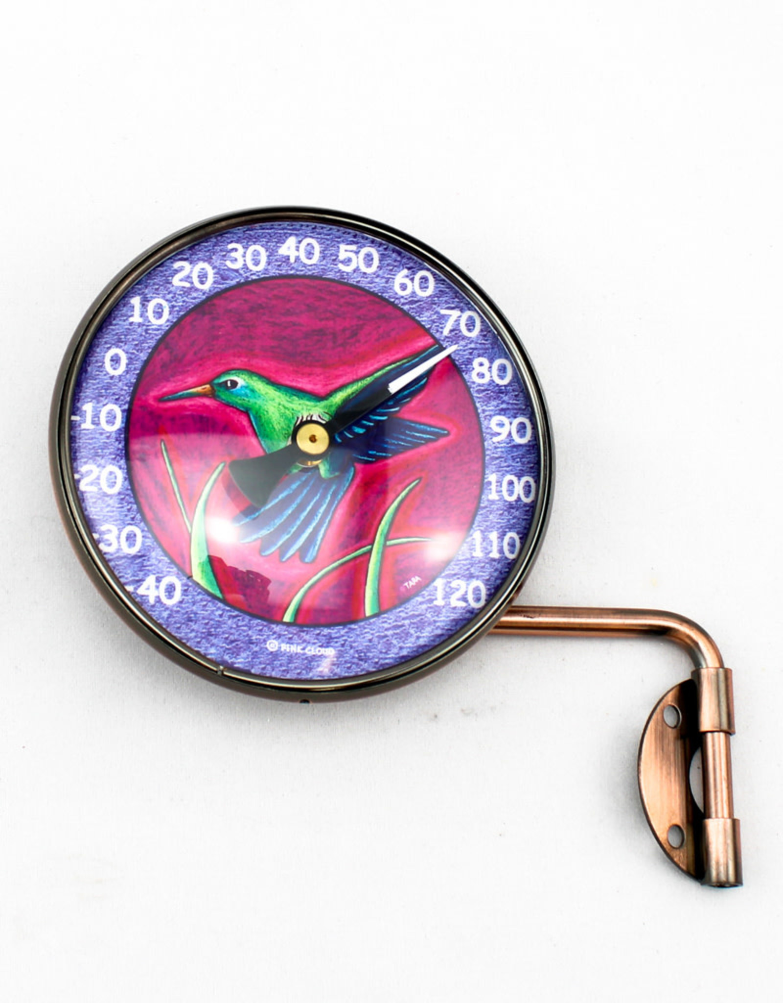 Pink Cloud Gallery Hummingbird Thermometer