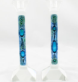 "Tamara Baskin Mediterranean Sea Candle Holders 10"" Tall SET OF 2"