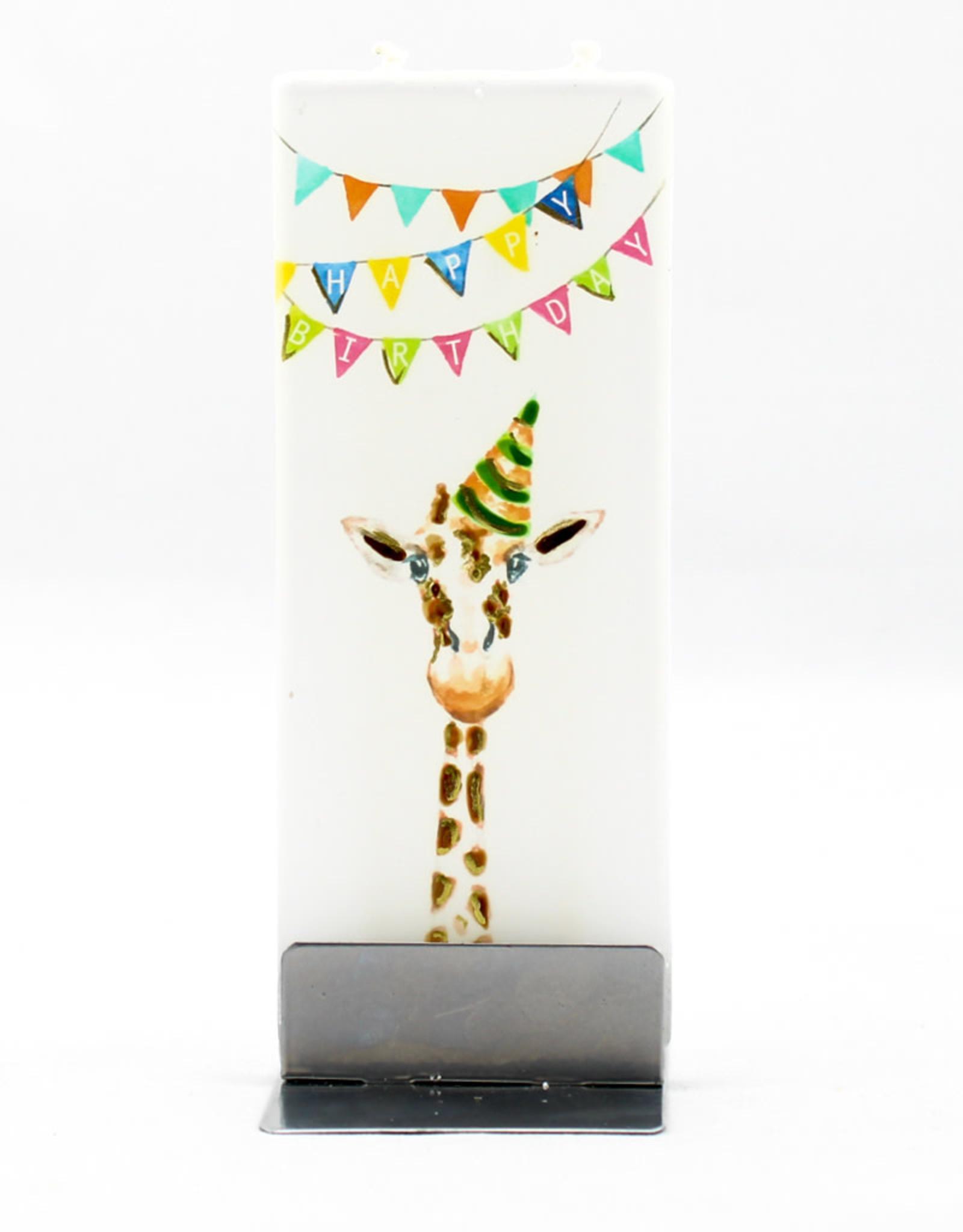 Flatyz Happy Birthday Giraffe Candle