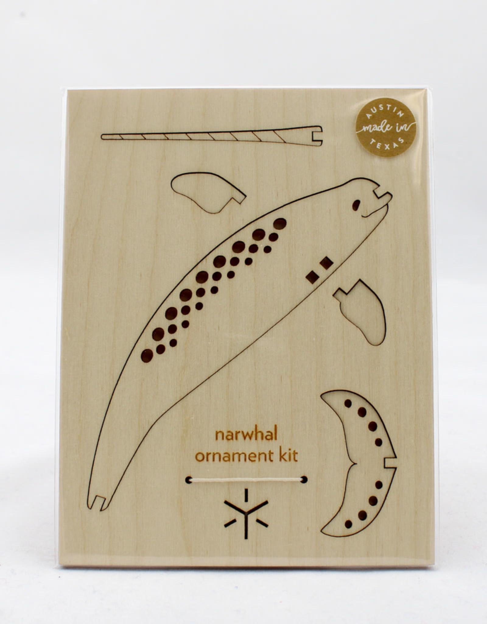 Bright Beam Goods Narwhal Ornament Kit