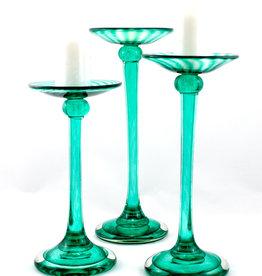 Hudson Beach Glass HL Straight Candleholder Set of 3 GI/GI