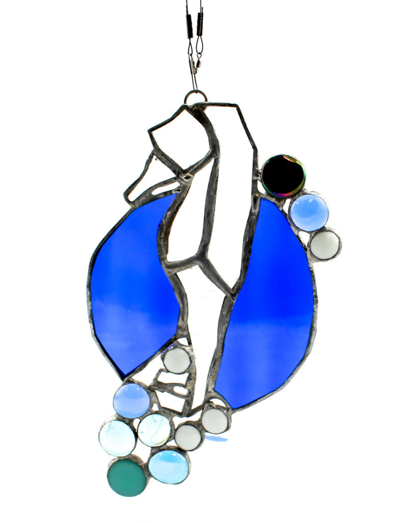 Kathy Testa Stained Glass Seahorse