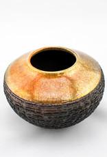 Canton clay works Raku Fired Pot-Small