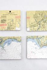Screen Craft Tile Works Westbrook-Saybrook Map tile coasters