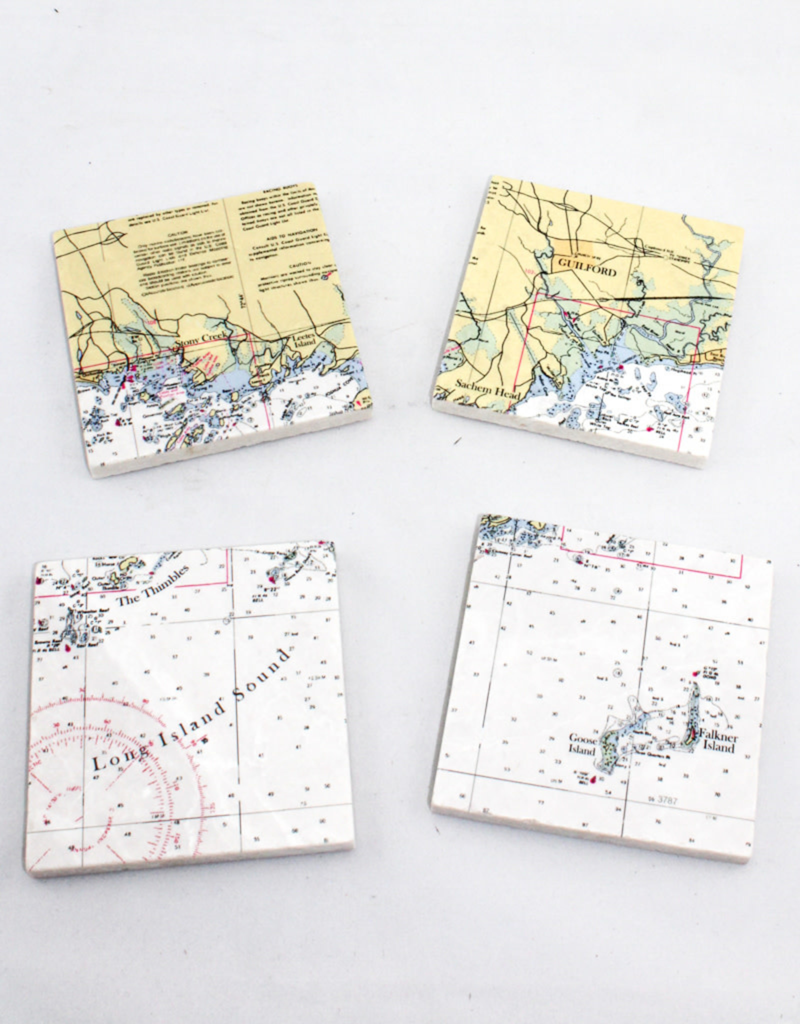 Screen Craft Tile Works Guilford Map tile coasters
