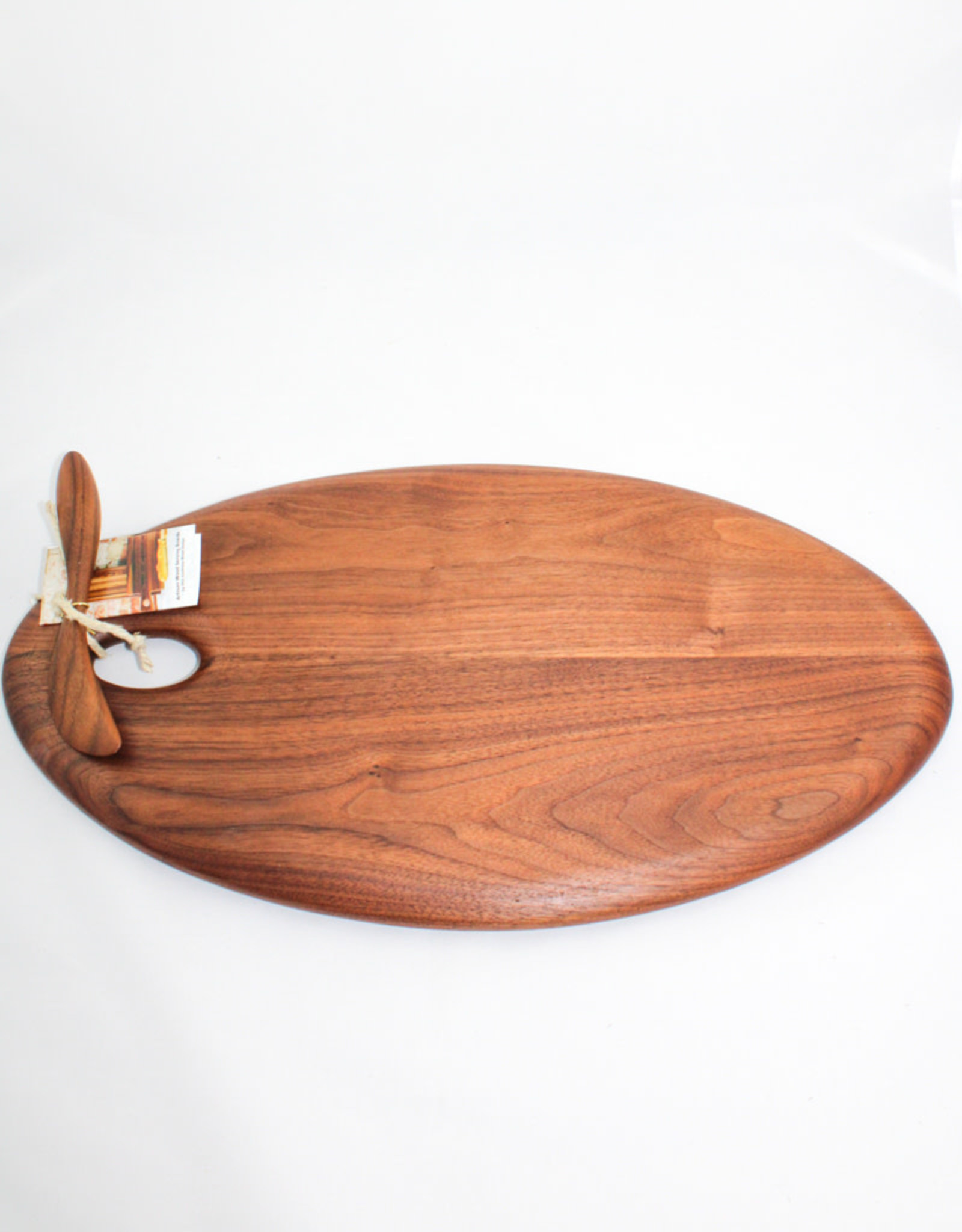 Phil Gautreau Wood Design Artisan Walnut Oval Serving Board