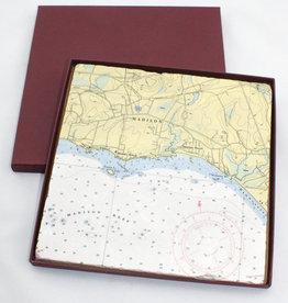 """Screen Craft Tile Works Madison Map Tile Trivet 8"""""""