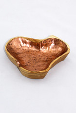KTN Woodworks Wooden Bowl with Copper