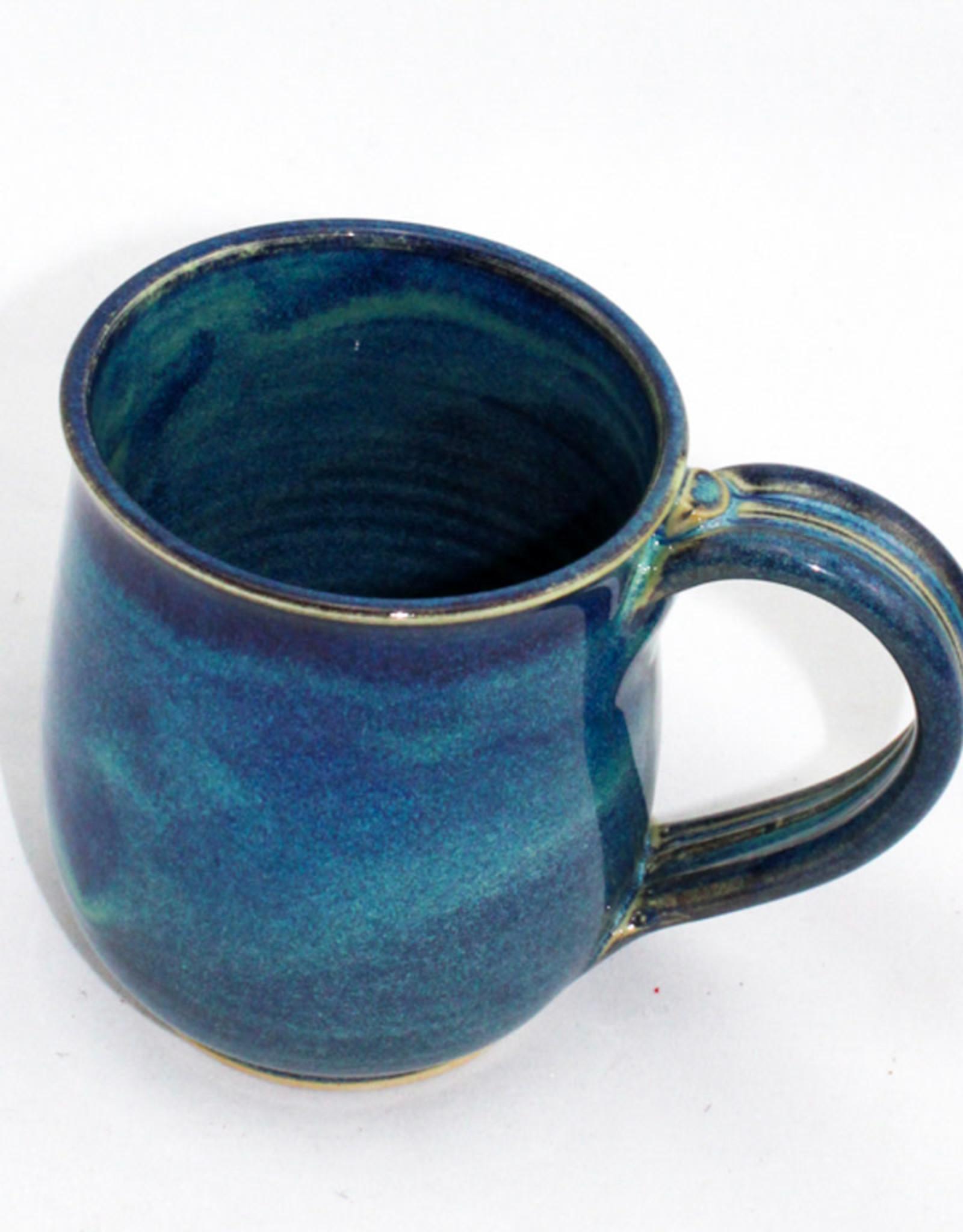 Jason Silverman Ceramics Short Mug-Water Blue