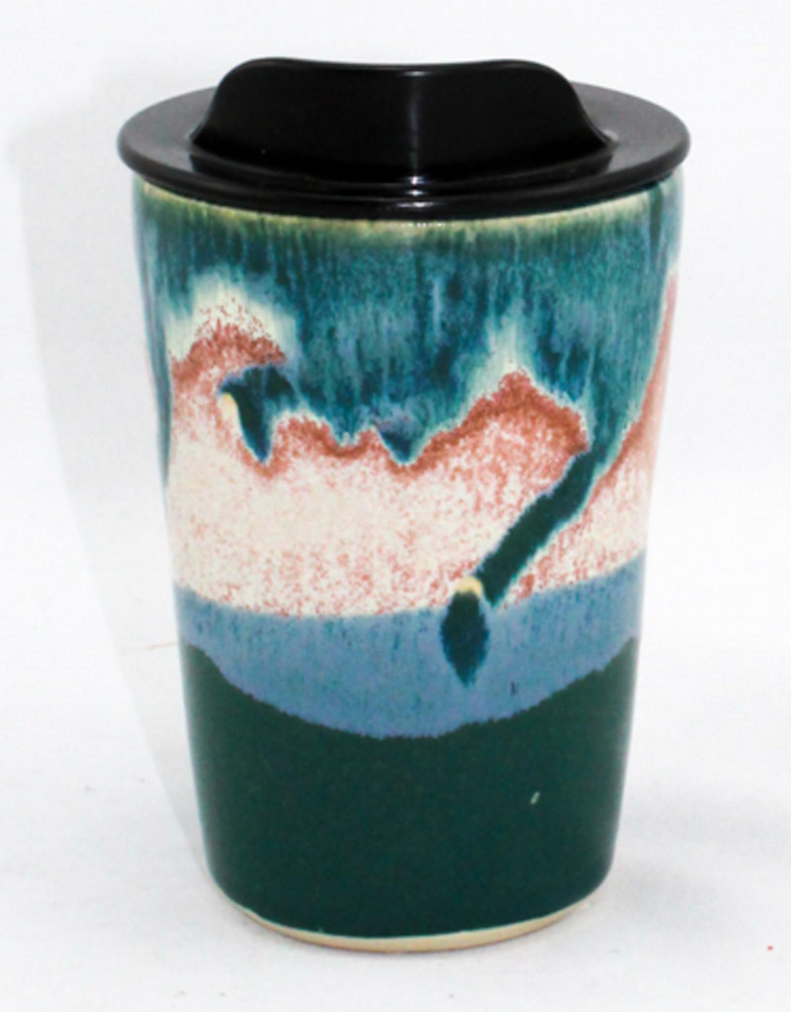 HeartMoss Pottery 12oz. Seashell Travel Mug