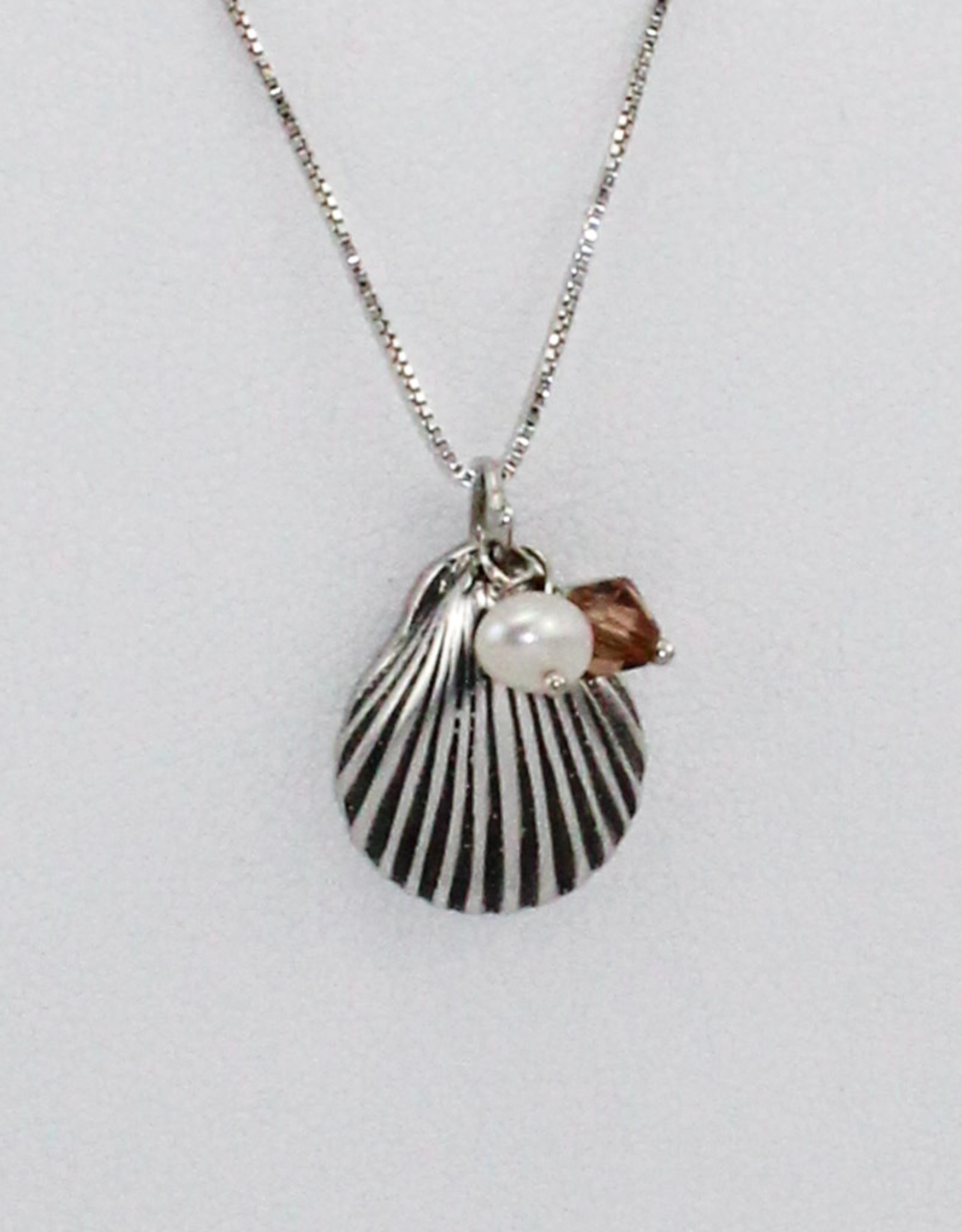 Adorned by Becca Shell Pendant w/sterling chain