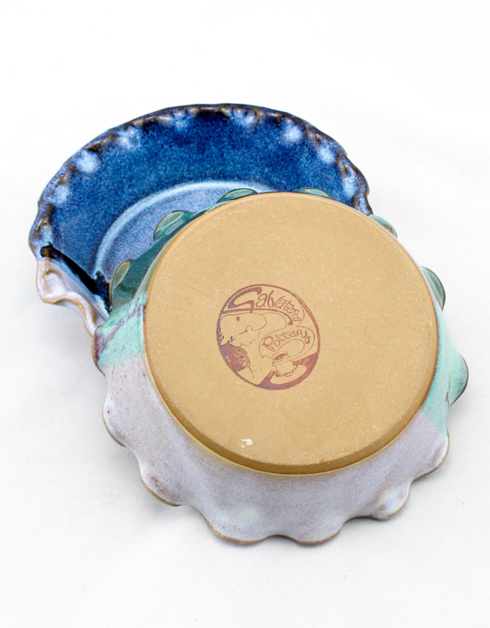 Salvaterra Pottery Brie Baker - Fluted Edges