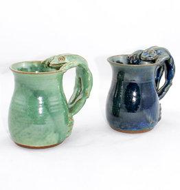Funkware Pottery Frog Mug Blue