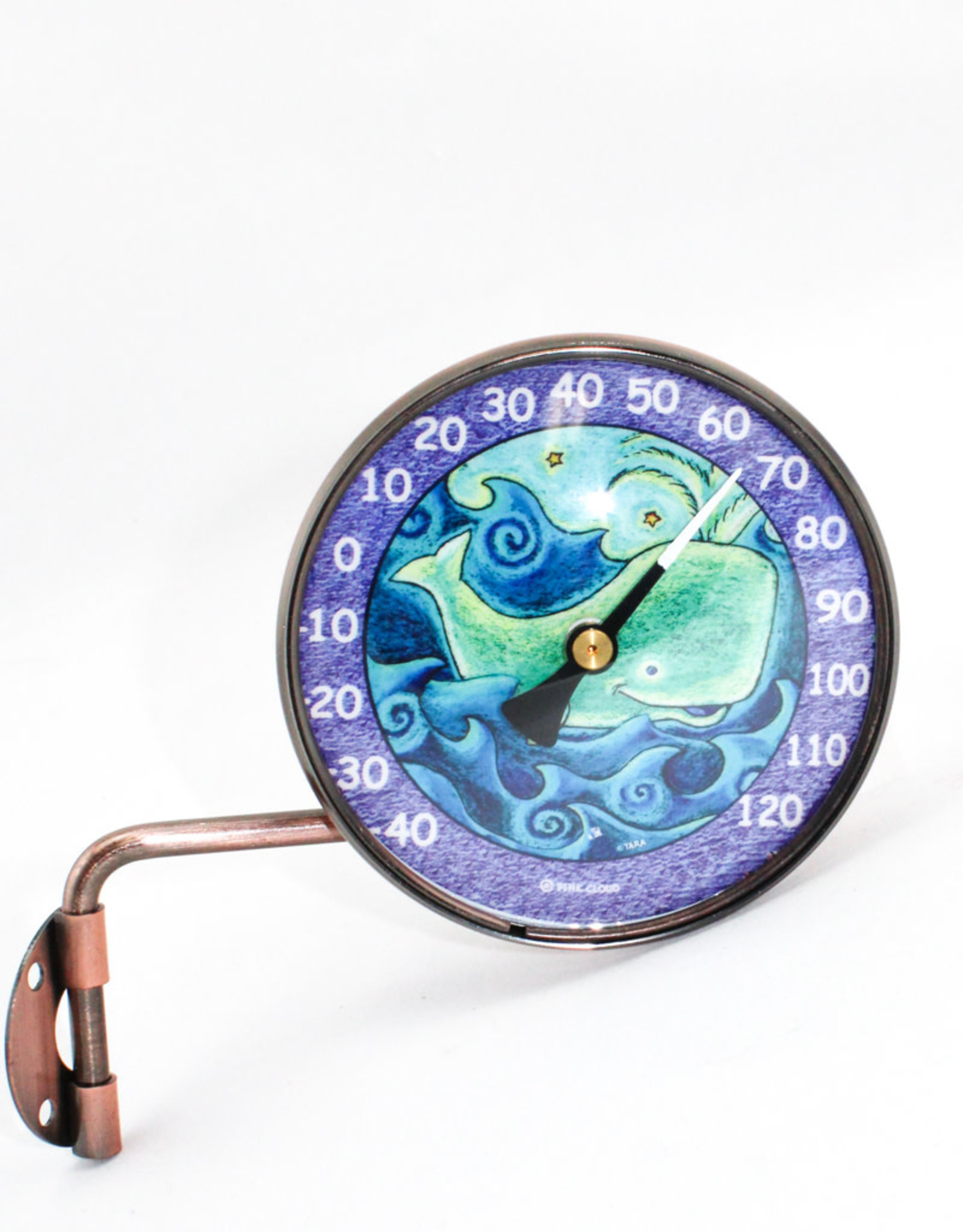 Pink Cloud Gallery Whale Thermometer