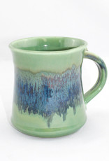 Clay in Motion Medium Mug Green/Gray