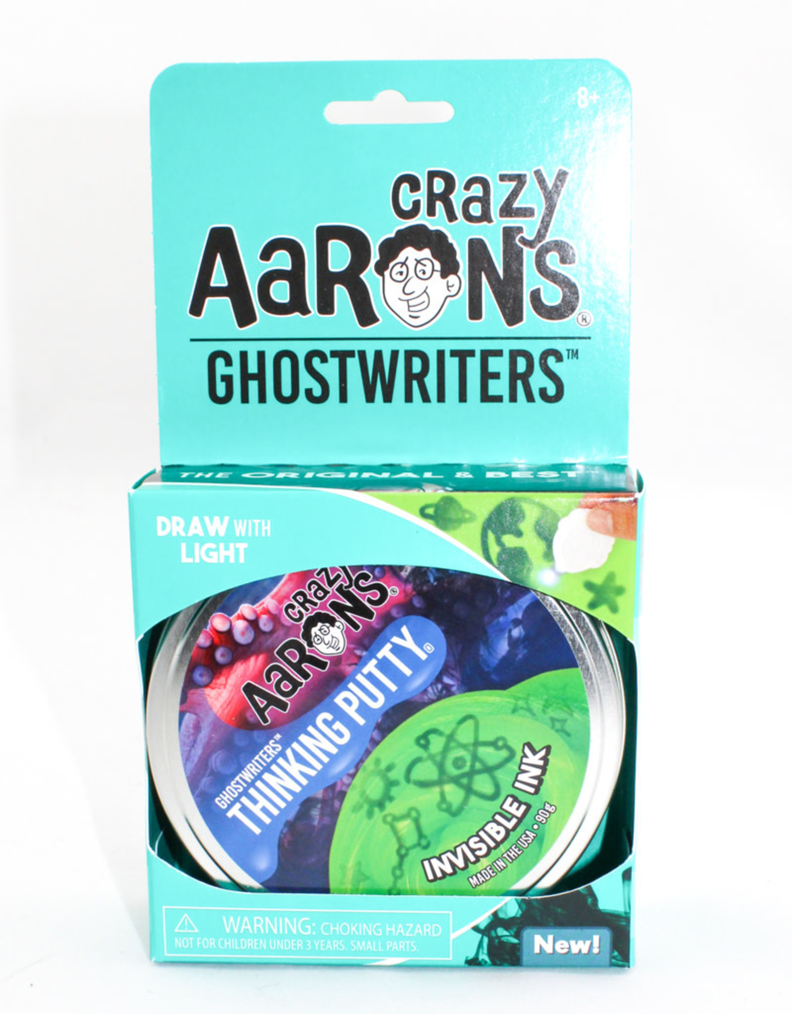 Crazy Aarons Putty 4'' Invisible Ink- Crazy Aaron's Thinking Putty