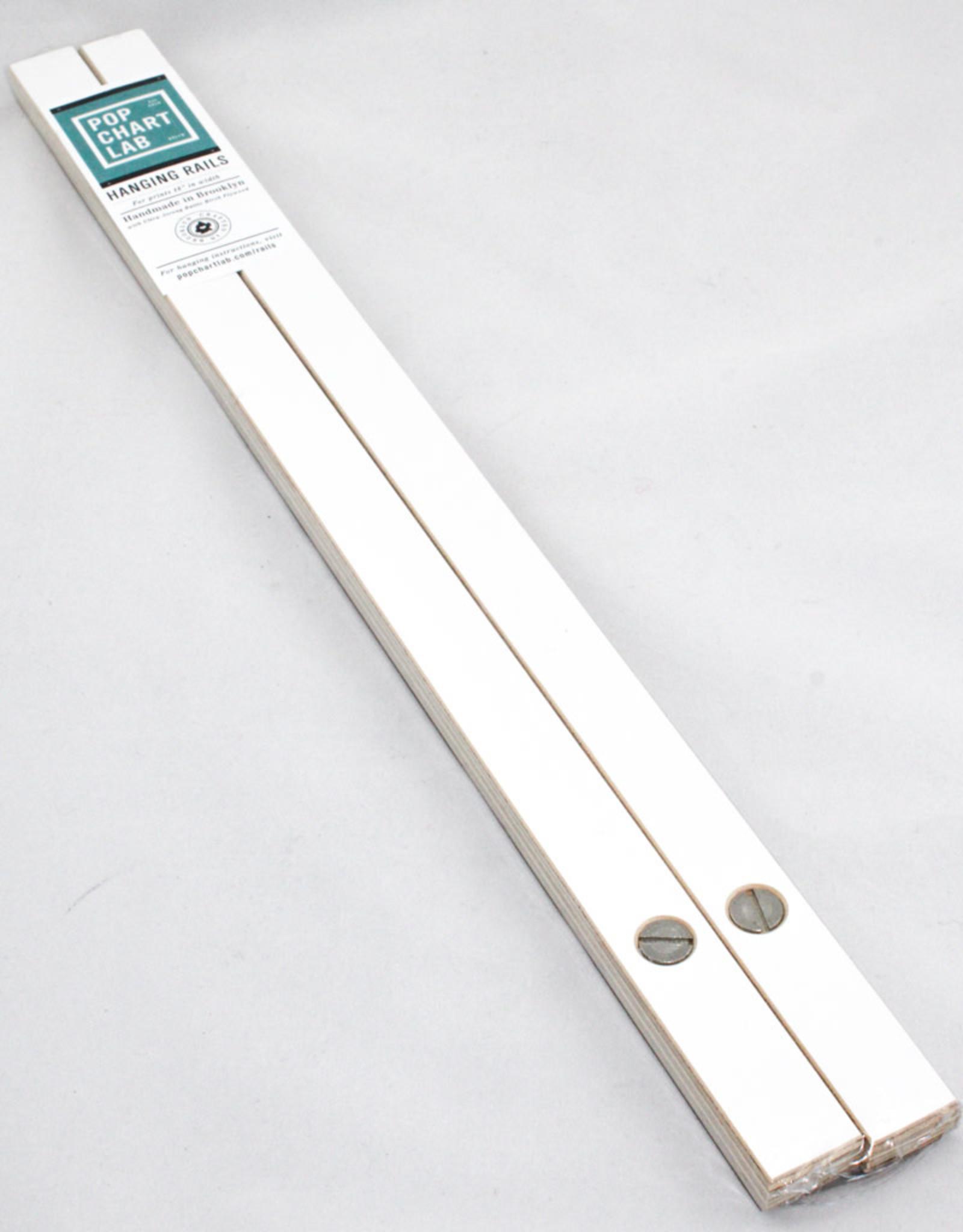 Pop Chart Lab 18'' White Hanging Rails