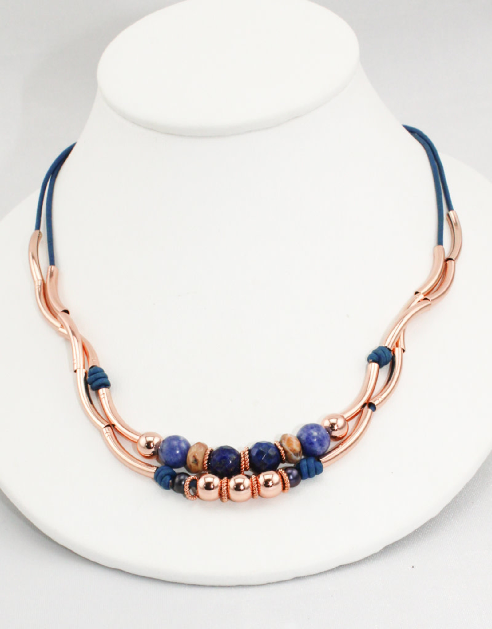 Lizzy James Danica Nat True Blue 2 Rose -GP-S Bracelet