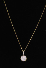 Alef Bet By Paula Gold Circle Necklace