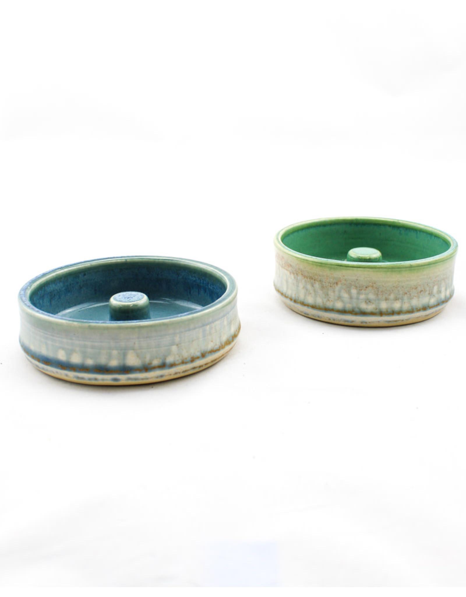 Earth Tones Pottery Egg Bageler Green