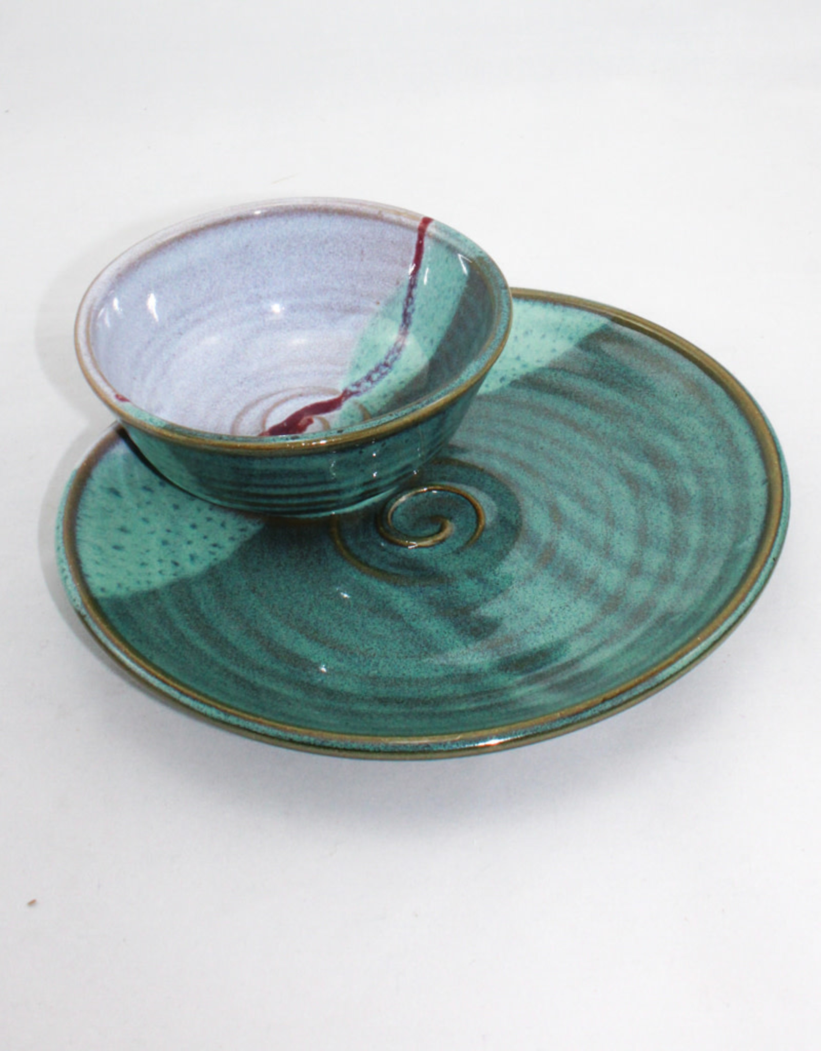 Salvaterra Pottery Soup and Sandwich Plate
