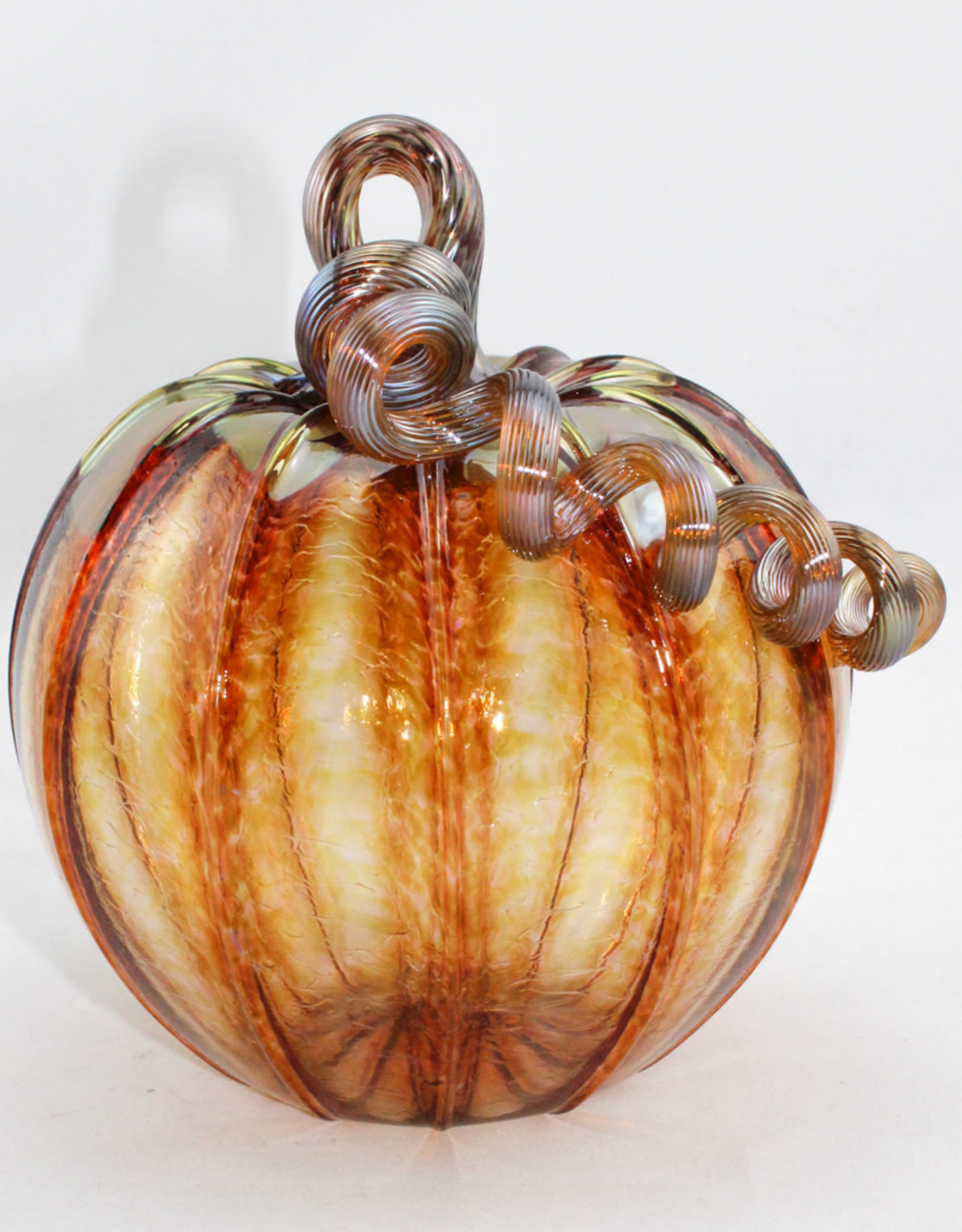 Luke Adams Handblown Glass Medium Pumpkin
