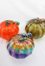 Luke Adams Handblown Glass Large Pumpkin
