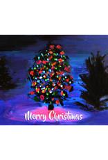 Create Greeting Card-Merry Christmas Tree Lights