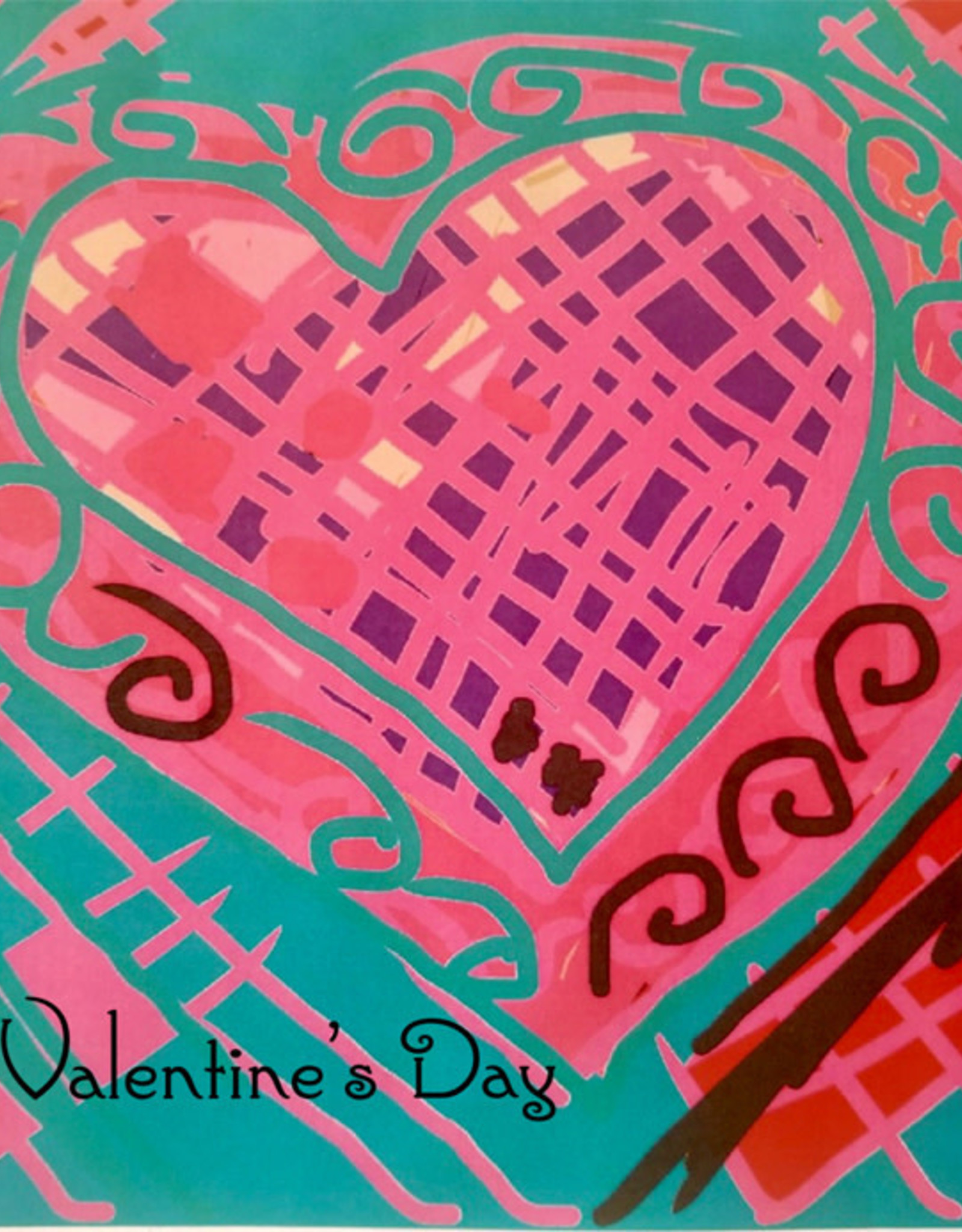 Create Greeting Card Happy Valentines Day