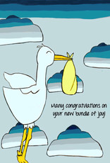 Create Greeting Card Special Delivery Stork