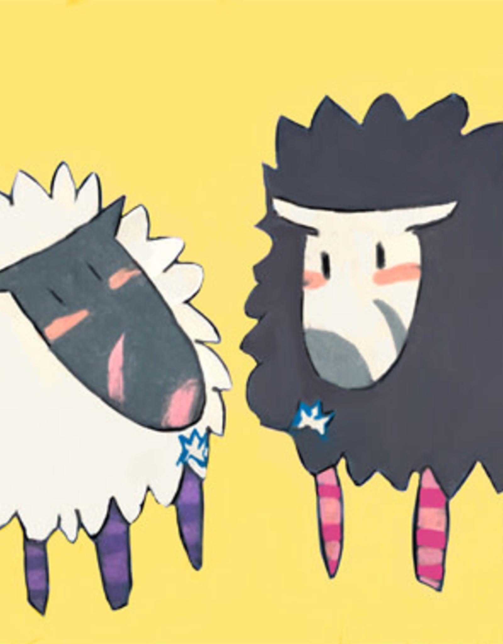 Create Greeting Card-Striped Legged Sheep