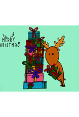 Create Holiday Card-Reindeer with Gifts
