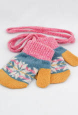 Catherine Tough Lambswool Mittens fair isle pink/smokey