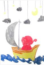 Create Greeting Card-Sailing Elephant