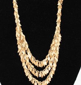 Stefanie Wolf Designs 3 Strand Leaf Necklace