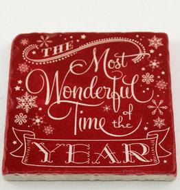 Paisley & Parsley Most Wonderful Red Coaster