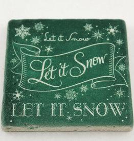 Paisley & Parsley Let it Snow Green Coaster