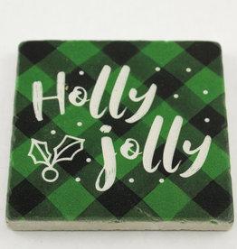 Paisley & Parsley Holly Jolly Green Coaster