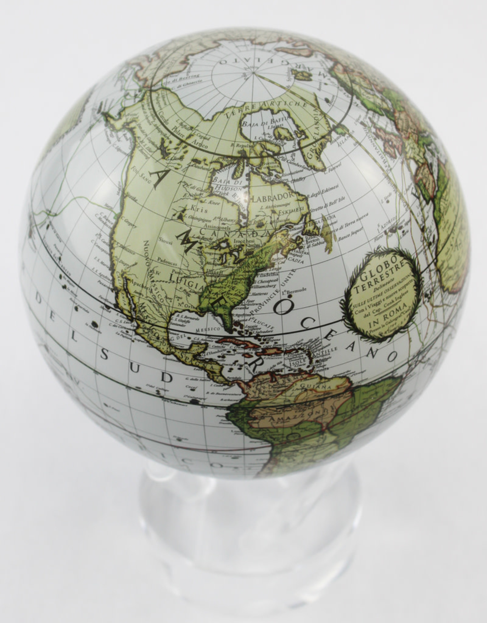 Mova International Cassini Terrestrial Mova Globe in White