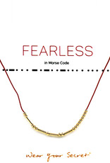 "Little Be Design Morse Code ""Fearless"" necklace"