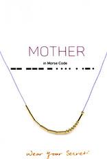 "Little Be Design Morse Code ""Mother"" necklace"