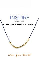 "Little Be Design Morse Code ""Inspire"" necklace"